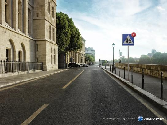Dogus Otomotiv Print Ad -  Missed sign