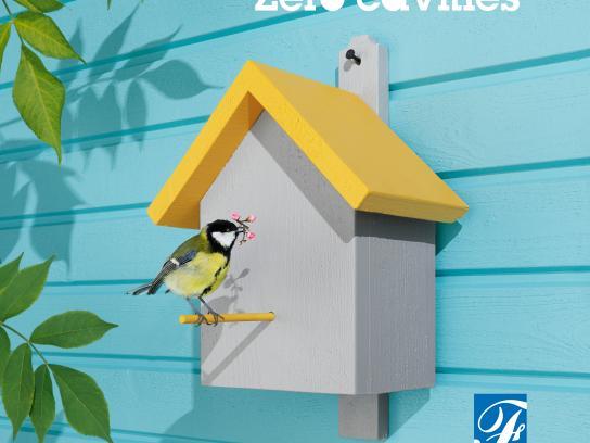 Folktandvården Print Ad - Birdhouse