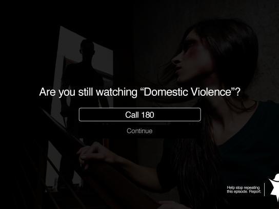 Central de Atendimento à Mulher Print Ad - Domestic Violence