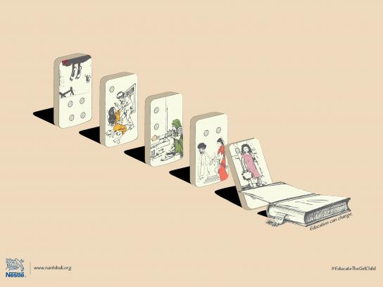 Nestle Print Ad - Domino Effect, 1