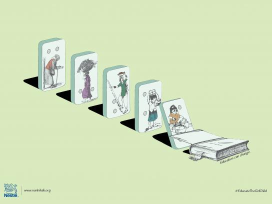 Nestle Print Ad - Domino Effect, 2