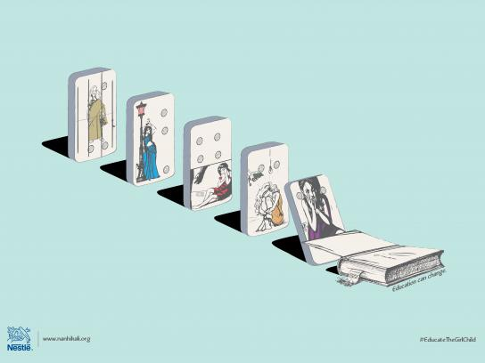 Nestle Print Ad - Domino Effect, 3
