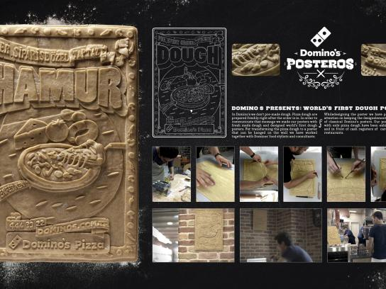 Domino's Pizza Outdoor Ad -  World's first dough posters
