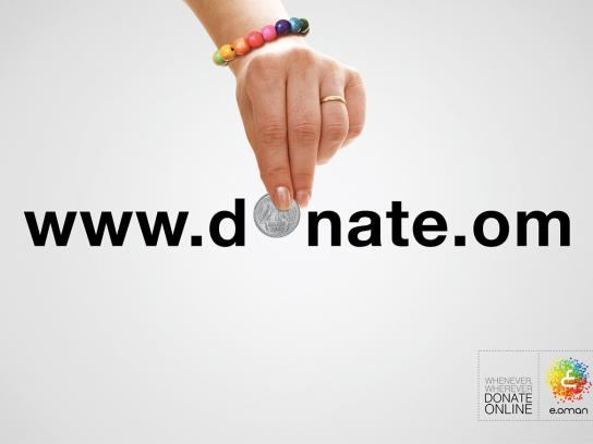 e.oman Print Ad -  Donate online, 2