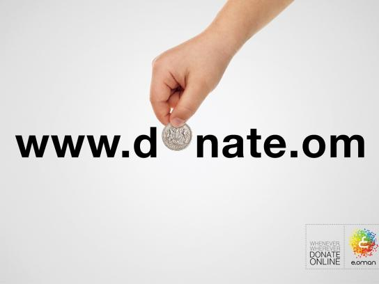 e.oman Print Ad -  Donate online, 1