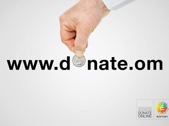 e.oman Print Ad -  Donate online, 3