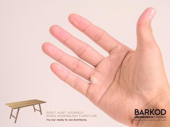 Barkod İç Mimarlık Print Ad - Don't hurt - hand