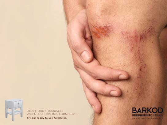 Barkod İç Mimarlık Print Ad - Don't hurt - knee