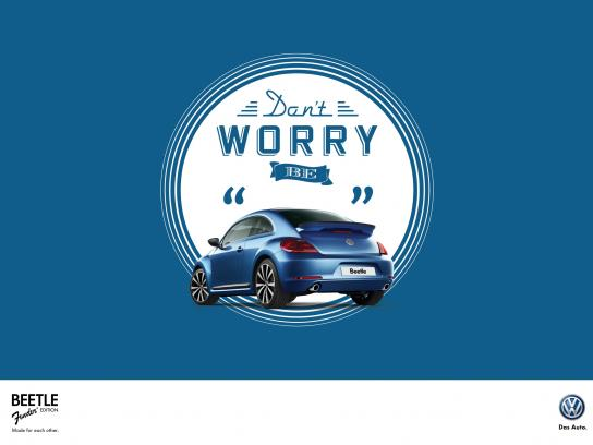 Volkswagen Print Ad -  Don't worry be