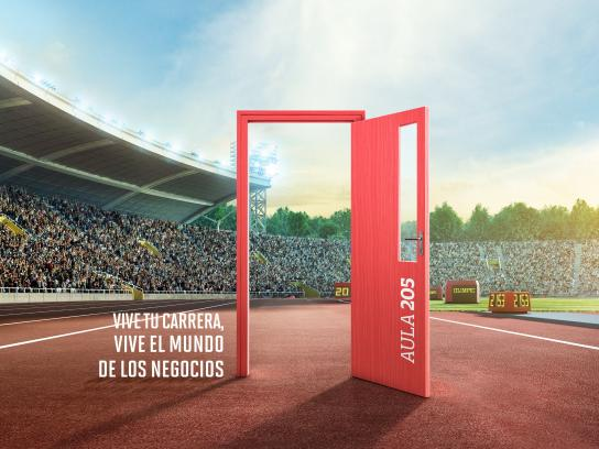 Universidad de Ciencias Aplicadas Print Ad - Door - court