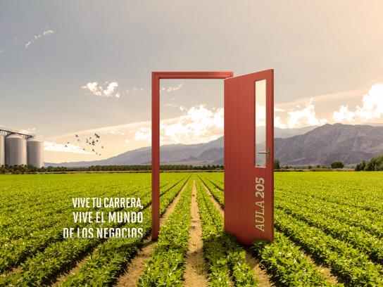 Universidad de Ciencias Aplicadas Print Ad - Door - field
