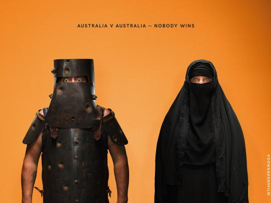 Down Under Outdoor Ad - Nobody wins, 2