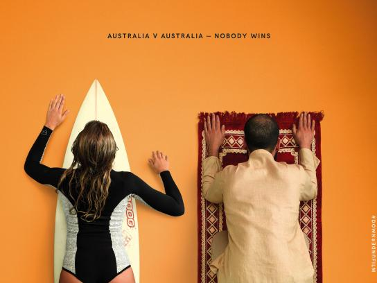 Down Under Outdoor Ad - Nobody wins, 5