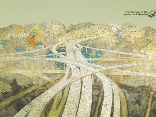 Michelin Print Ad -  Road map, 1