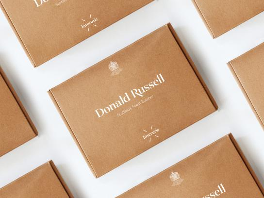 Donald Russell Design Ad - New Visual Identity
