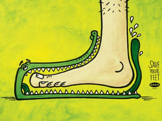 Dr. Scholl's Print Ad - Aligator