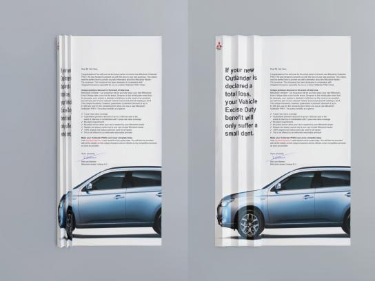 Mitsubishi Direct Ad -  Total loss letter