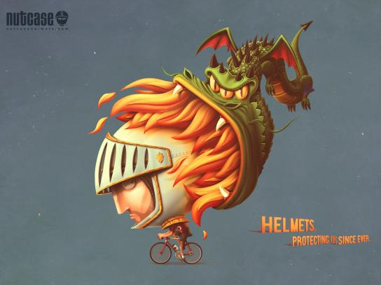 Nutcase Print Ad - Dragon