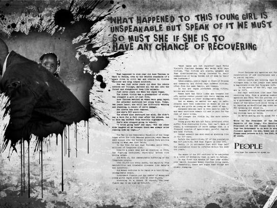 The People Print Ad -  DRC rape victims, 2