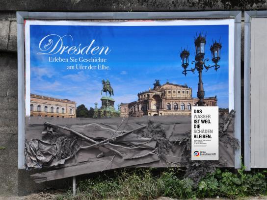 Aktion Deutschland hilft Ambient Ad -  Dresden