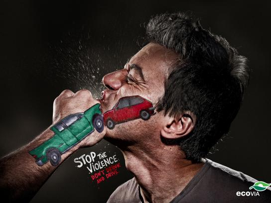Ecovia Print Ad -  Stop the Violence, Don't drink and drive