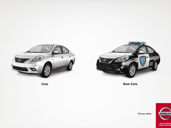 Nissan Print Ad -  Choose safety, 1