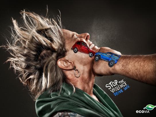 Ecovia Print Ad -  Stop the Violence, Drive Safe