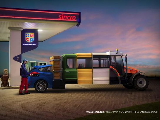 Tiriac Energy Print Ad - The Car-Truck-Van-Bus Tractor