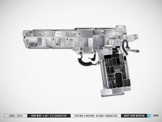AT&T Print Ad -  Drop your weapon, 2
