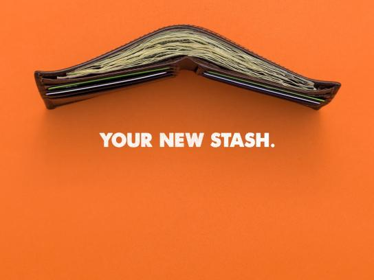 Dollar Shave Club Print Ad -  Your new stash
