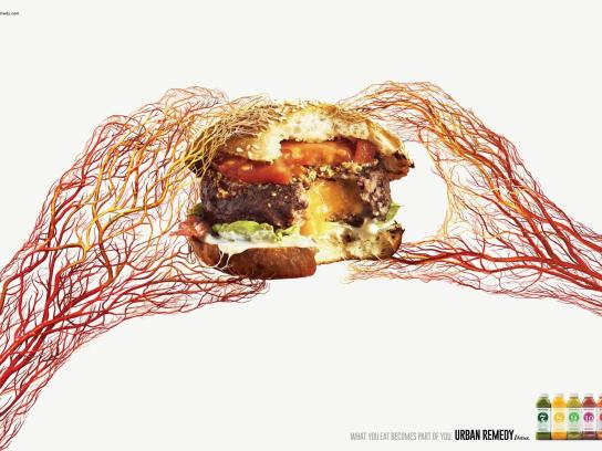 Urban Remedy Print Ad -  Hamburger