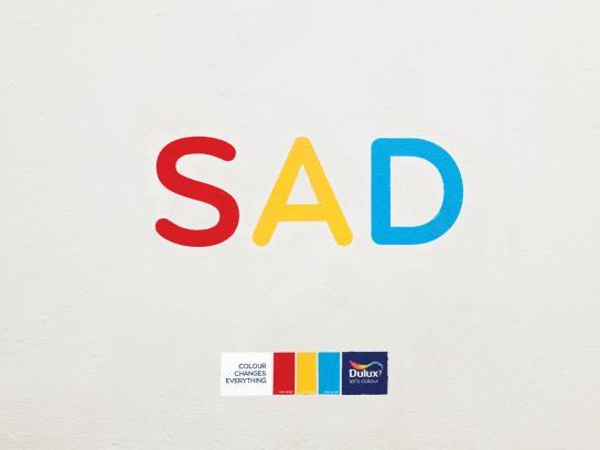 Dulux Print Ad -  Sad