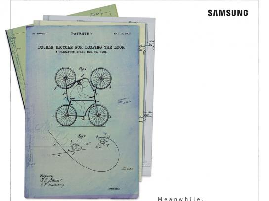 Samsung Print Ad - Dumb Patents - Double Bike