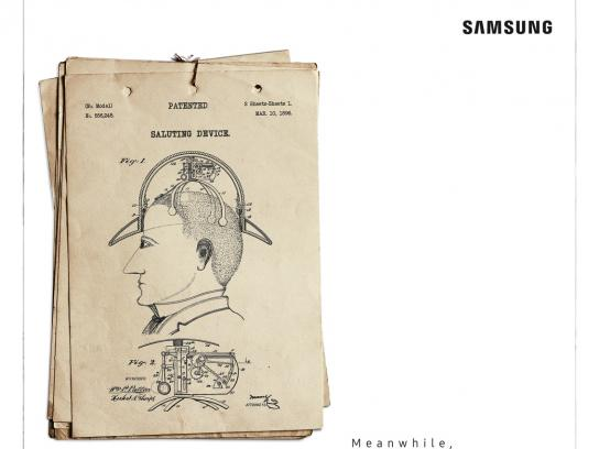 Samsung Print Ad - Dumb Patents - Saluting Device