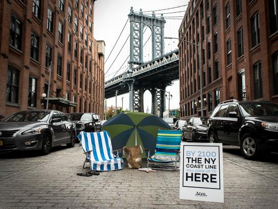 New York Sea Ambient Ad - Surging Seas