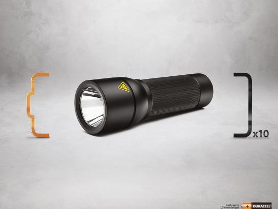 Duracell Print Ad -  Flashlight