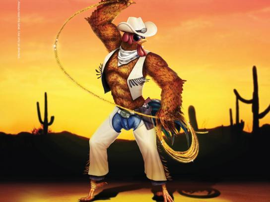 Durex Print Ad -  Mardi Gras, Cowboy