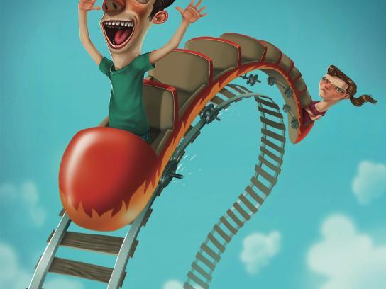 Durex Print Ad -  Rollercoaster