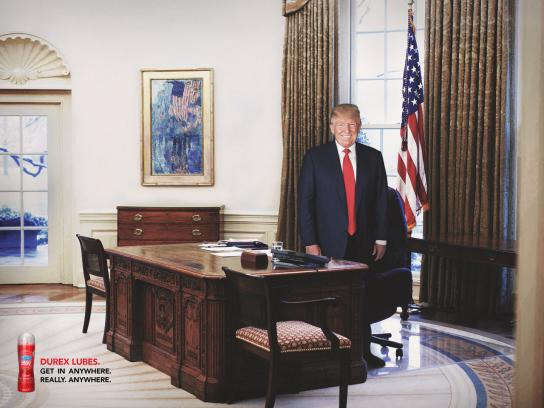 Durex Print Ad - Trump