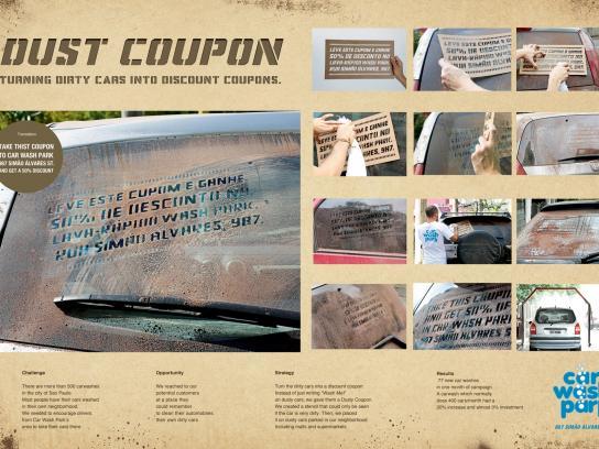 Car Wash Park Ambient Ad -  Dust coupon