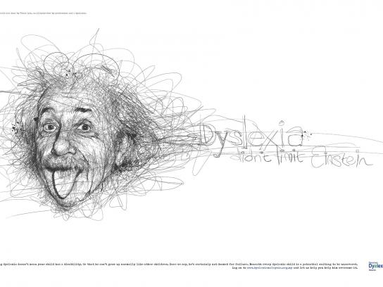 Dyslexia Association Print Ad -  Einstein