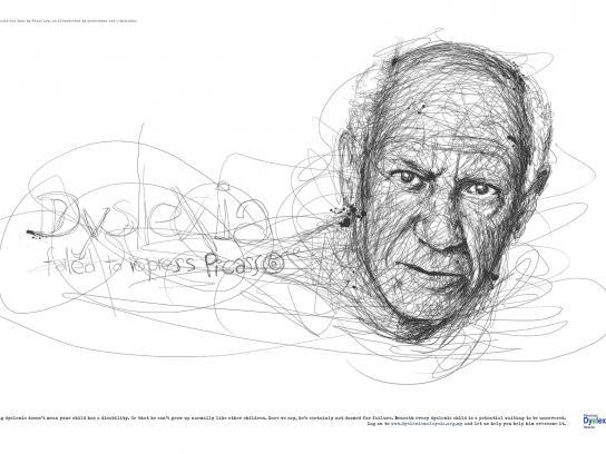Dyslexia Association Print Ad -  Picasso