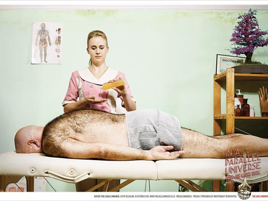 Eagle Print Awards Print Ad -  Massage