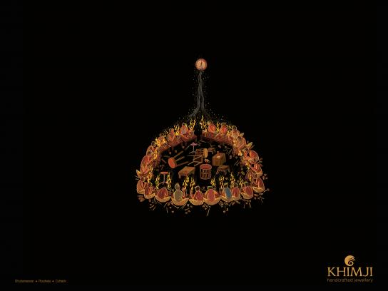 Khimji Print Ad - Earring