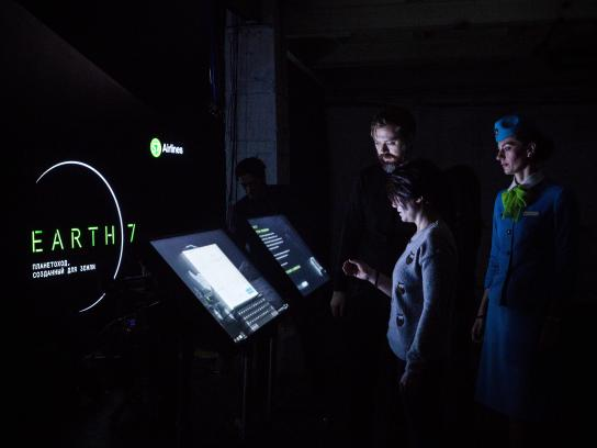 S7 Airlines Experiential Ad - Space rover destined for Earth