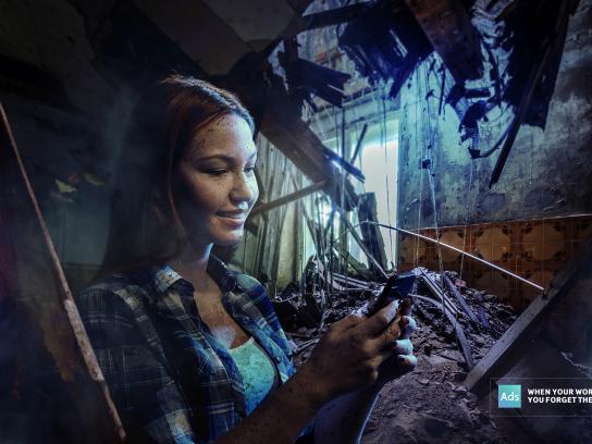 Ads of the World Print Ad - Earthquake