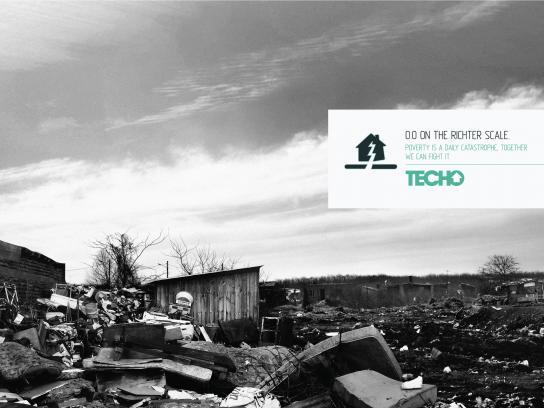 Un Techo Para Mi País Print Ad -  Earthquake