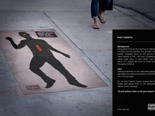 Coalition to Stop Gun Violence Ambient Ad - Easy Targets