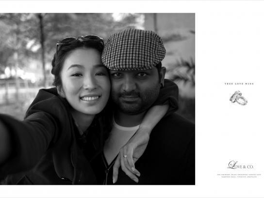 Love & Co. Print Ad -  True love wins, Ebe & Sunny