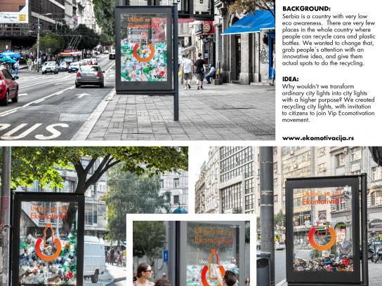 Vip mobile Outdoor Ad -  Eco City Light